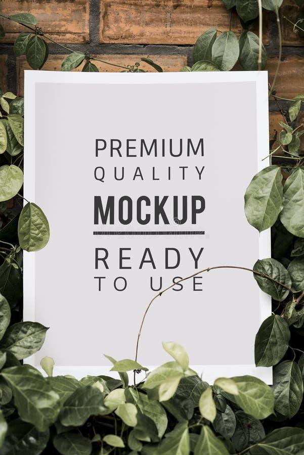 Poster mockup premium advertisement decoration stock photography