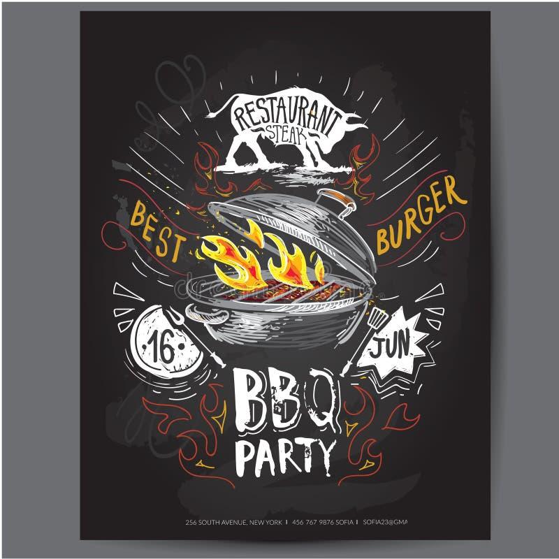 poster Molde do projeto do logotipo do vetor do fast food ícone da placa do Hamburger, dos peixes ou do menu ilustração royalty free