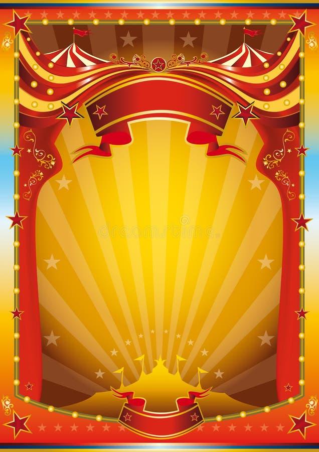Poster Multicolor do circo ilustração stock