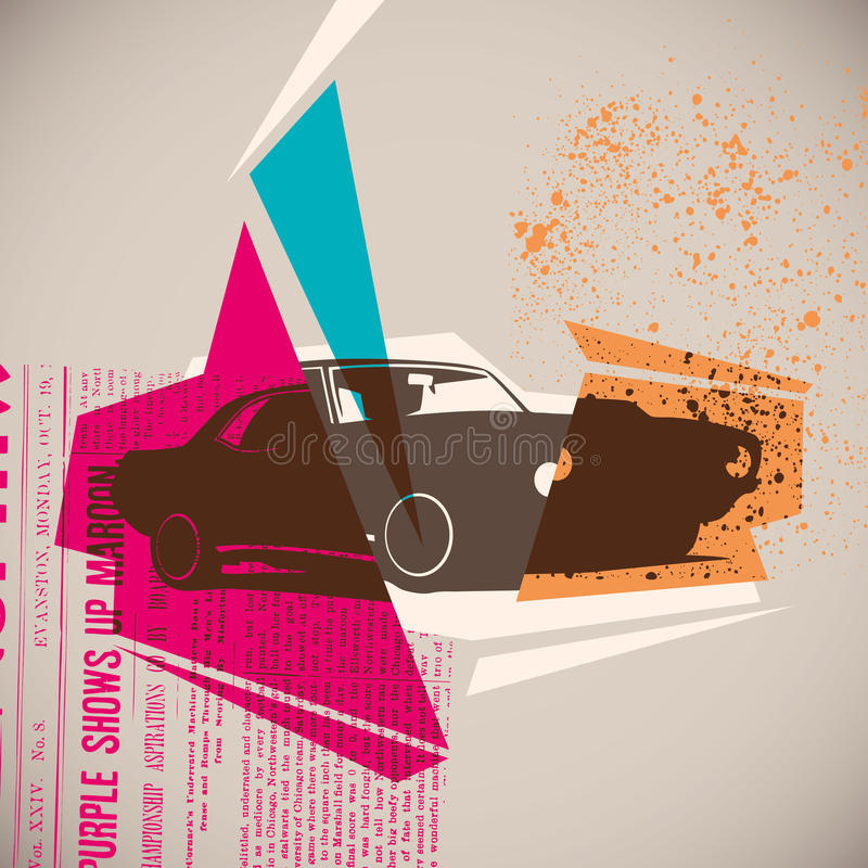 Download Poster With Muscle Car. Royalty Free Stock Image - Image: 26311766