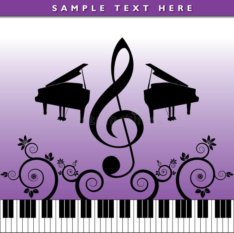 Poster musical artístico ilustração do vetor