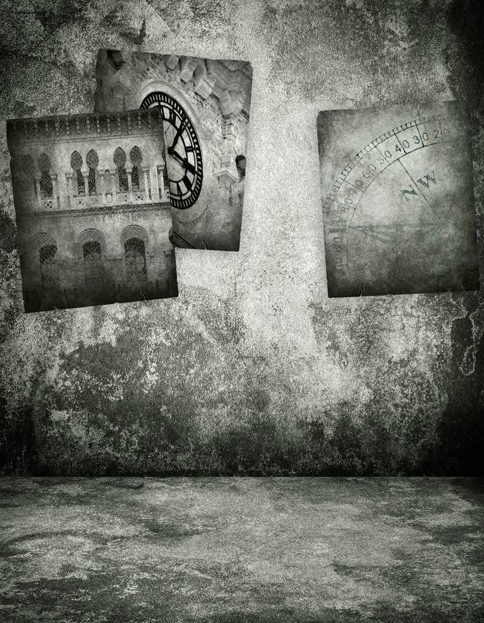Poster na casa do grunge ilustração royalty free