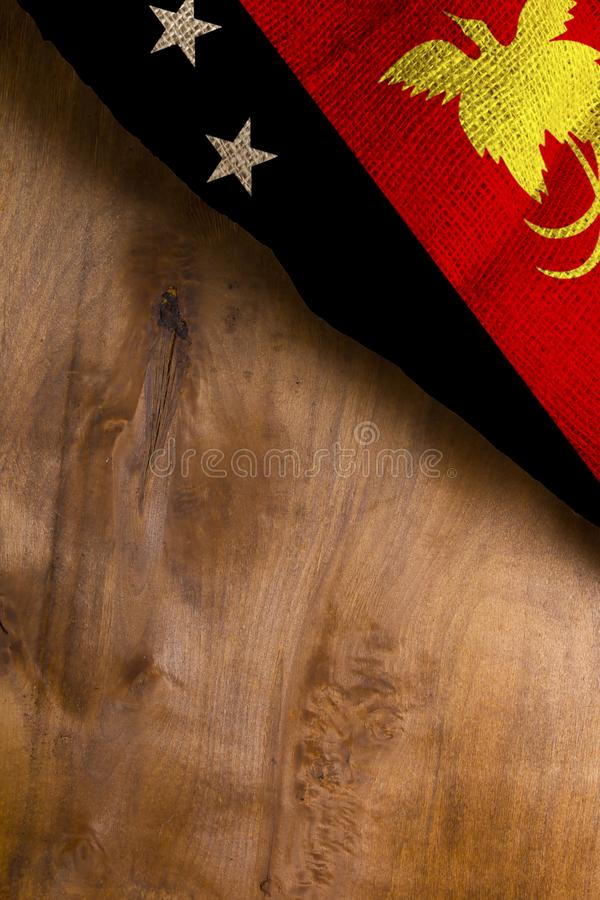 Flag of Papua New Guinea State. Poster with the national flag of Papua New Guinea royalty free stock images