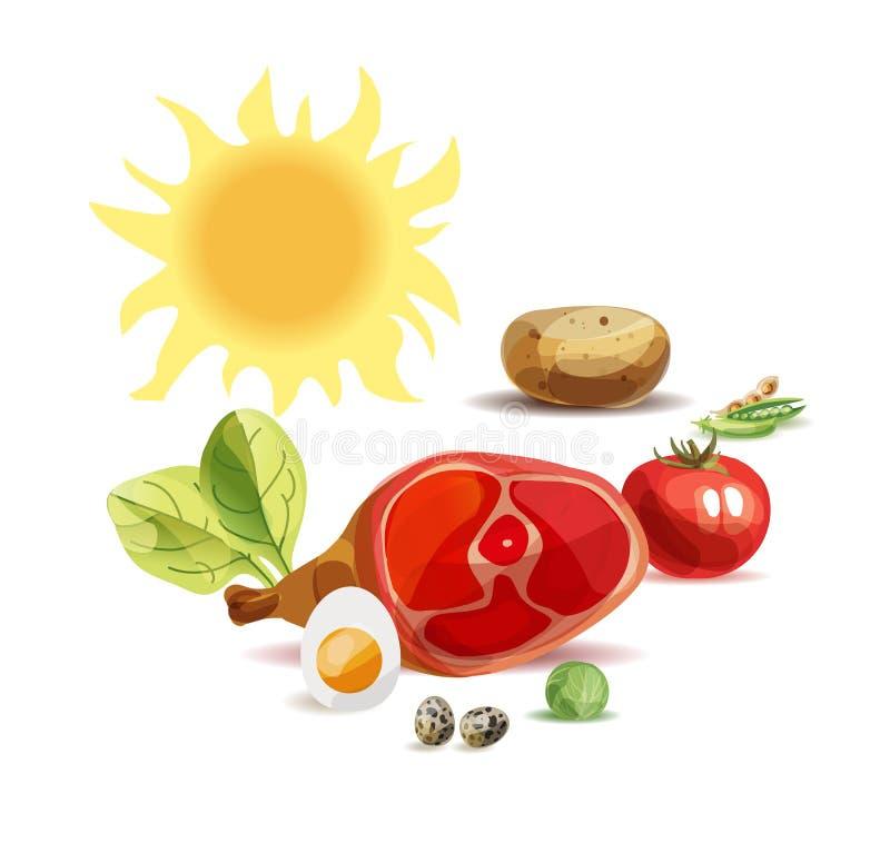 Poster natural do alimento biol?gico ilustração stock