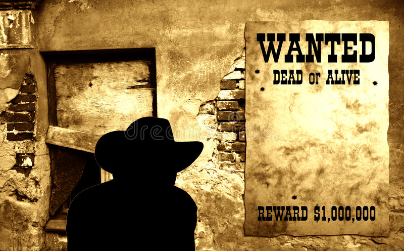 Poster ocidental selvagem V imagem de stock