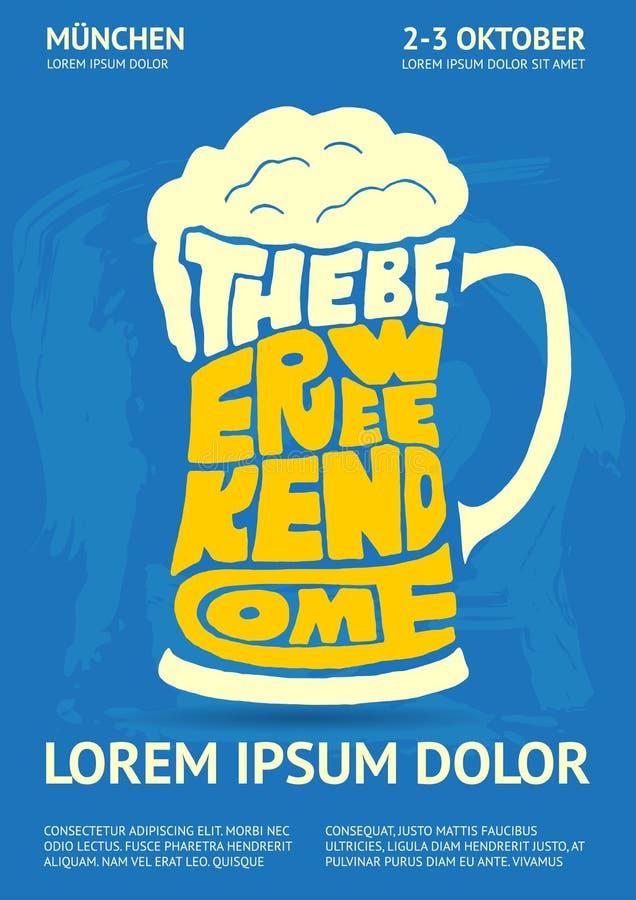 Poster for Oktoberfest Beer Festival vector illustration