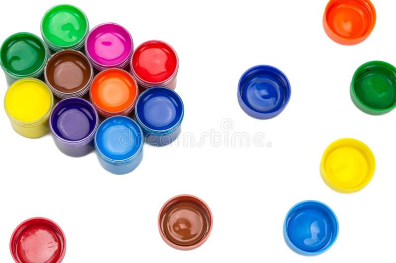 Poster paint color royalty free stock photos
