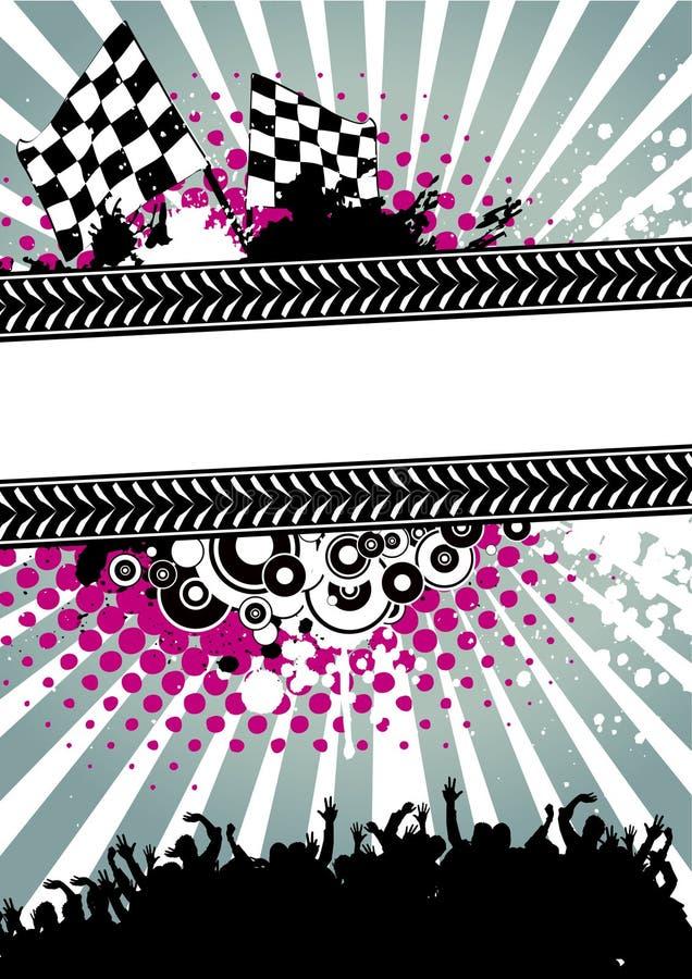 Poster para competir ilustração royalty free