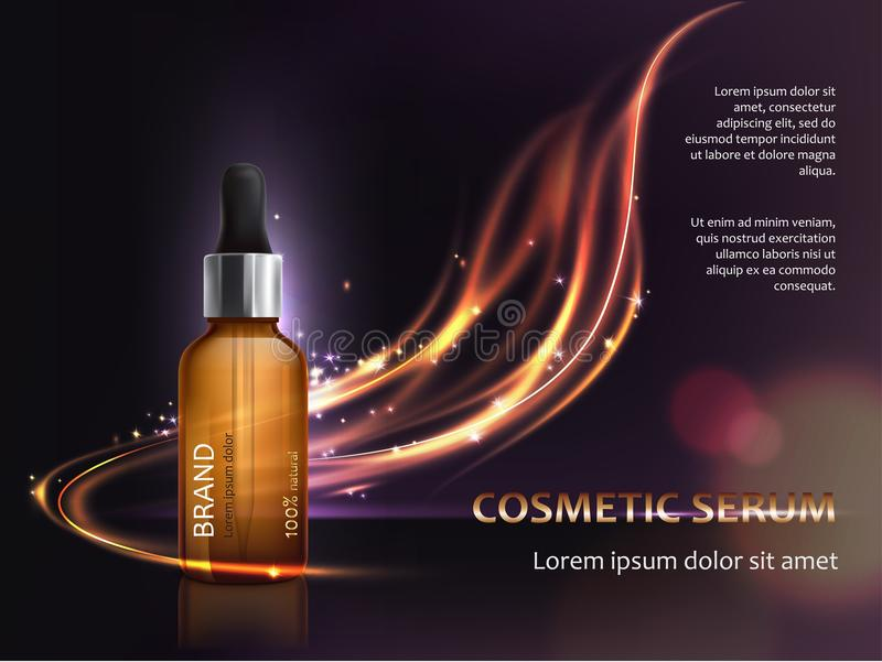 Poster for the promotion of cosmetic anti-aging premium product vector illustration