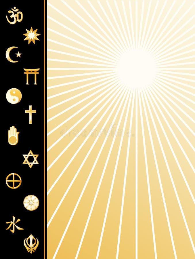 poster religions world 向量例证