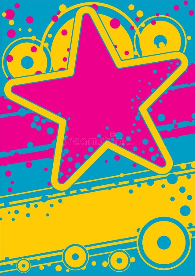 Poster retro ilustração royalty free
