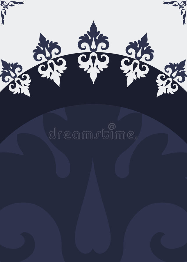 Poster silver blue header royalty free stock images