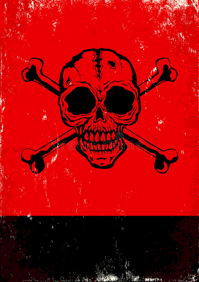 Poster With The Skull Royalty Free Stock Images