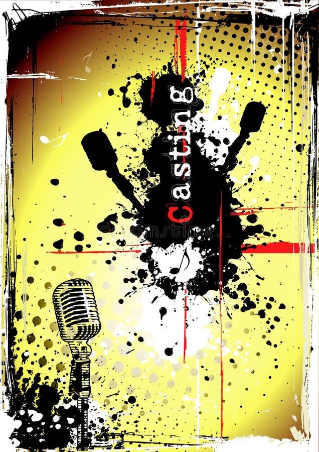 Poster sujo da carcaça ilustração stock
