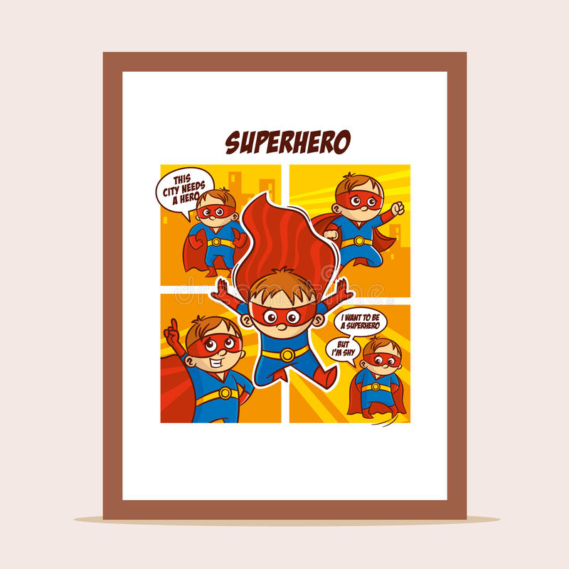 Poster Superheroes in the city. Vector Illustration vector illustration