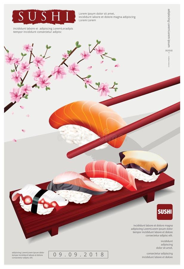 Poster of Sushi Restaurant royalty free illustration