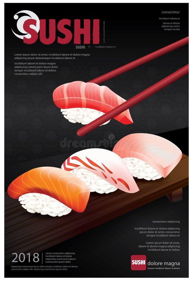 Poster of Sushi Restaurant stock illustration