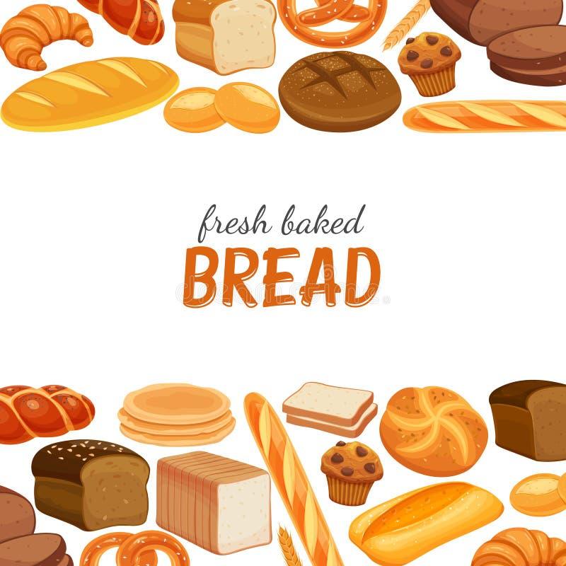 Cute Bakery Shop Logo Template Design Collection Set: Menu Template Cartoon Bakery Stock Illustrations 3,182