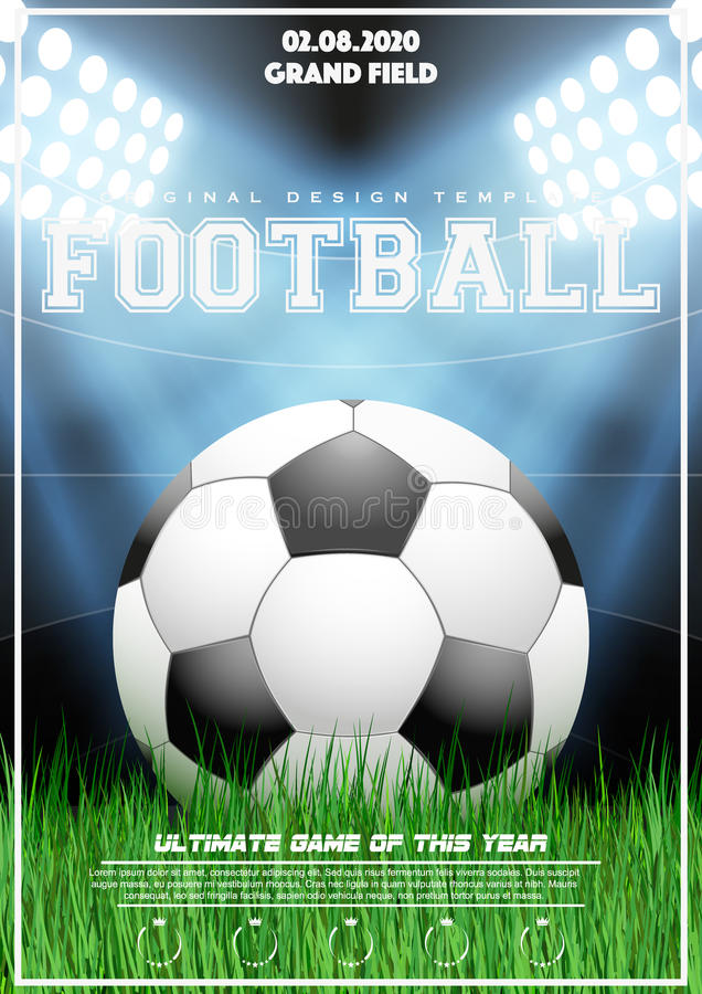 Poster Template Of Football Tournament Stock Vector Illustration