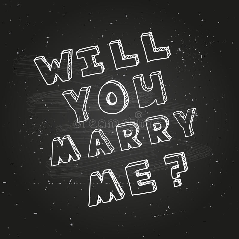Poster Template For Marriage Proposal Design Stock Vector - Image