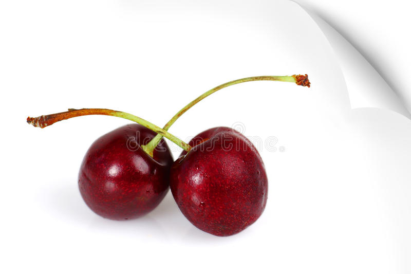 Download Poster Of Two Sweet Cherries Stock Image - Image: 26063859
