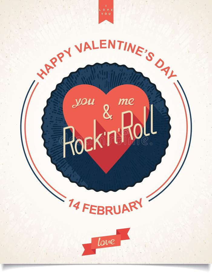 Poster for valentines day stock photo