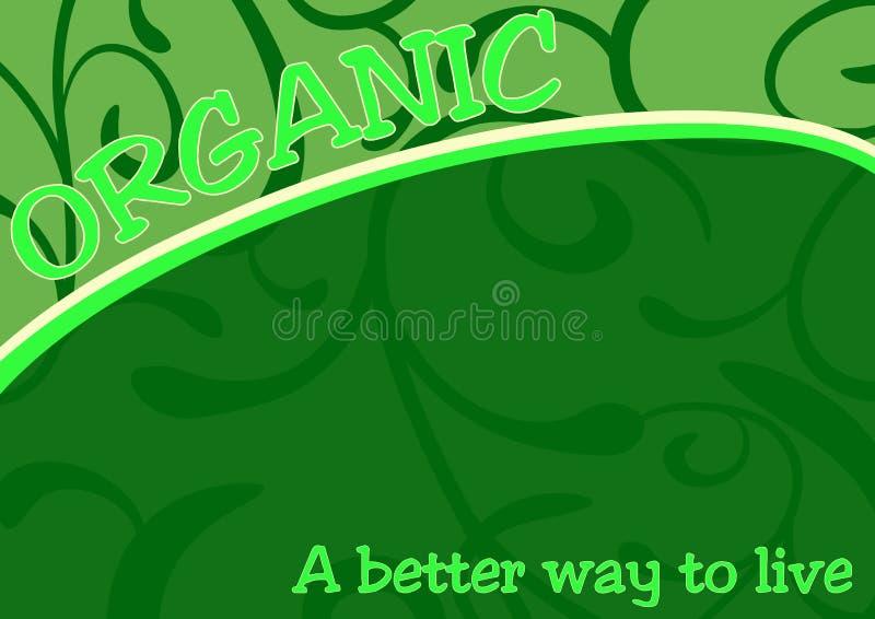Poster verde do alimento biológico ilustração do vetor