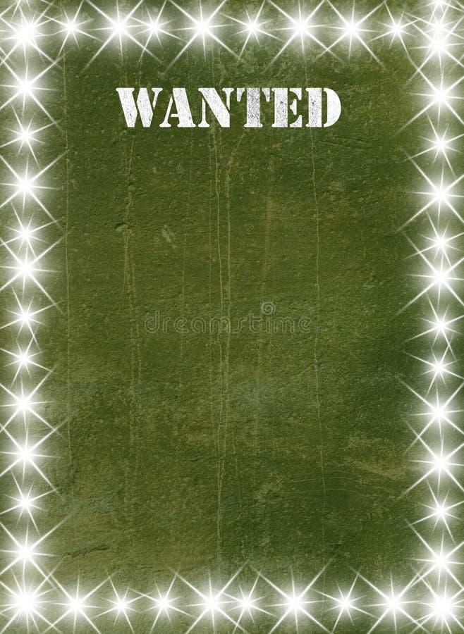 Poster verde do vintage ilustração royalty free