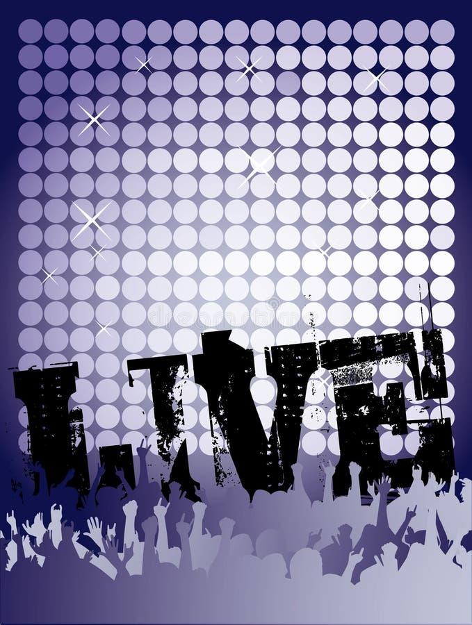 Poster vivo do concerto ilustração royalty free