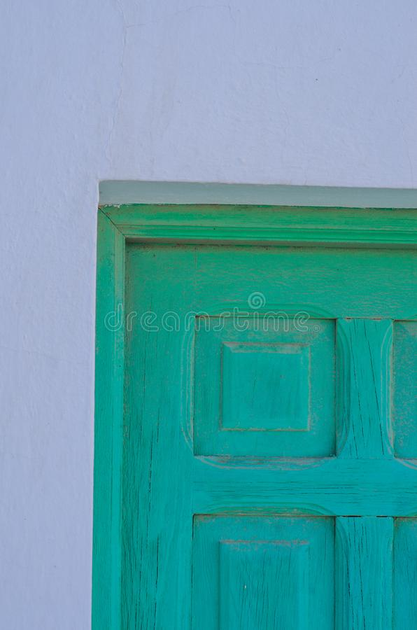 poster: wall with old paint door stock image