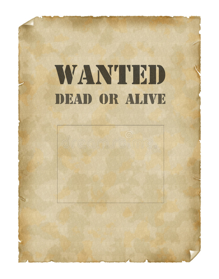 Free Poster Wanted Dead Or Alive Stock Photos - 2054003