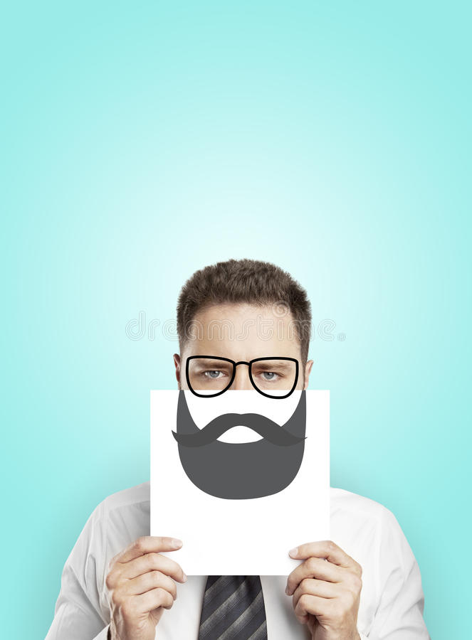 Free Poster With Drawing Beard Royalty Free Stock Photo - 32552895