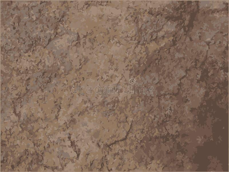 Posterized褐色土石头花岗岩纹理背景 库存例证