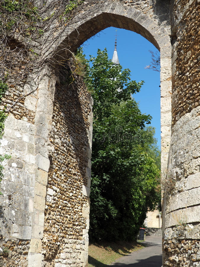 Postern kościół Etienne obraz stock