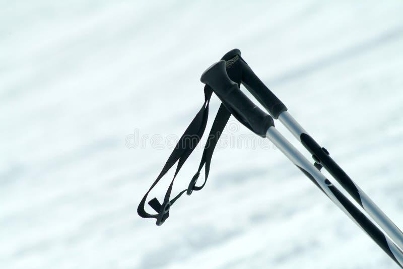 Postes de esquí imágenes de archivo libres de regalías