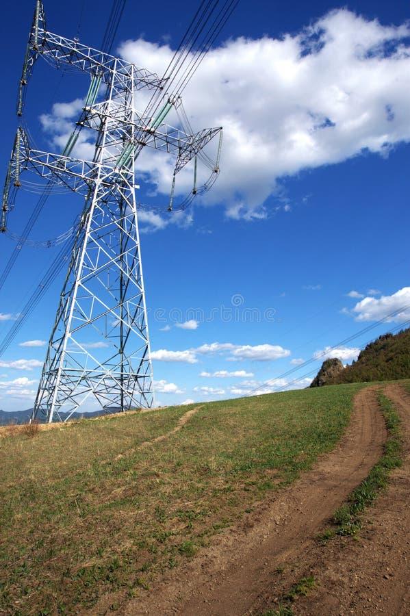 Postes de la electricidad fotos de archivo libres de regalías