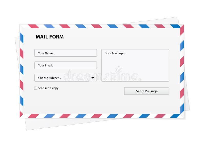 Postformular in einem Umschlag lizenzfreie abbildung