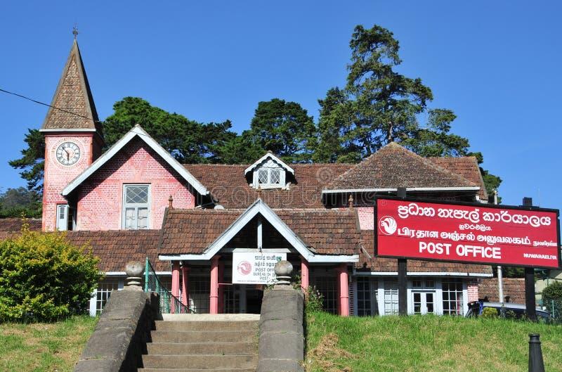 Postgebäude in der Stadt von Nuwara Eliya lizenzfreie stockbilder