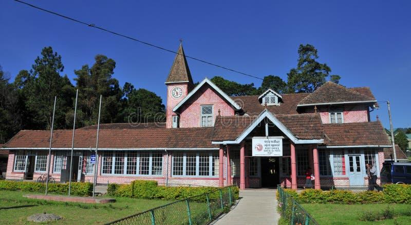 Postgebäude in der Stadt von Nuwara Eliya lizenzfreies stockfoto