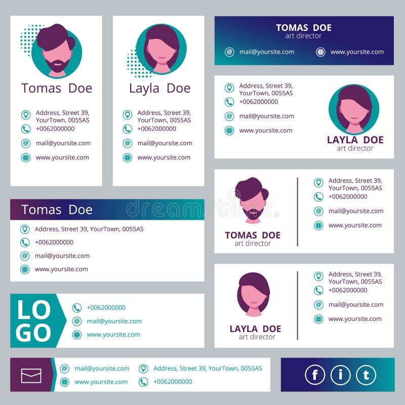 Posthäftemall Häfte för vektor för design för manöverenhet för kontorsaffär elektroniskt med stället för text royaltyfri illustrationer