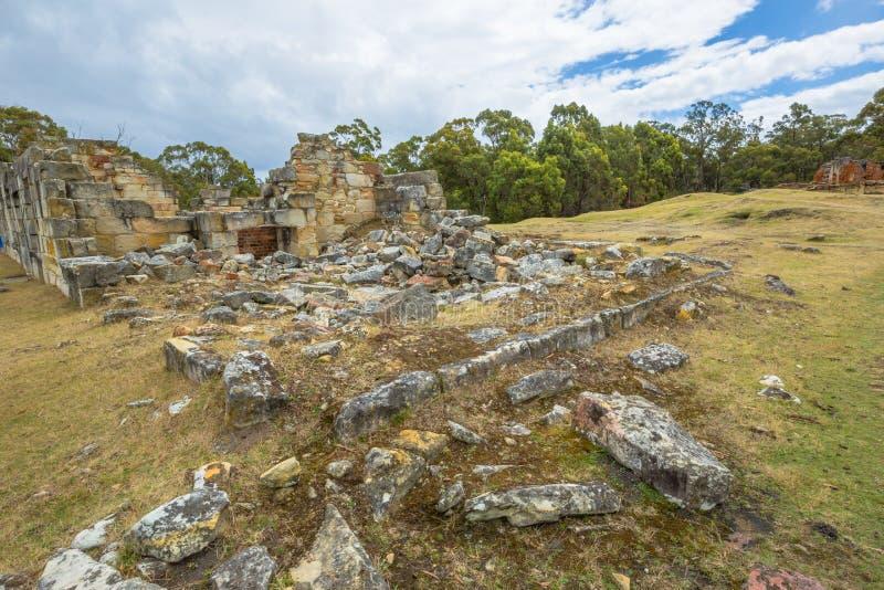 Posti nazionali di eredità: Miniere di carbone Tasmania immagine stock libera da diritti