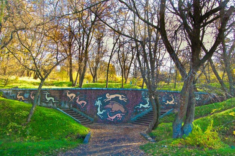Posti pittoreschi sulle banche del fiume di Dnieper nel centro dell'Ucraina fotografia stock libera da diritti
