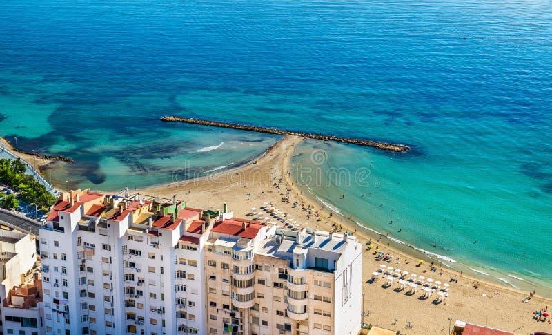 Postiguet beach in alicante spain stock photo image of - Stock uno alicante ...