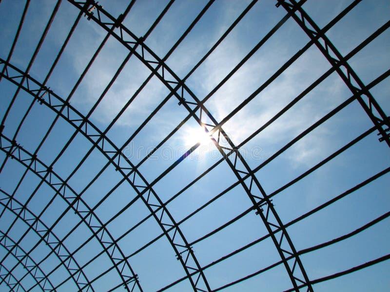 Postindustrialne hangar ruiny zdjęcia stock