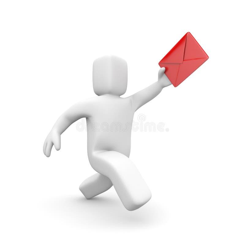 Postino - consegna della lettera illustrazione vettoriale