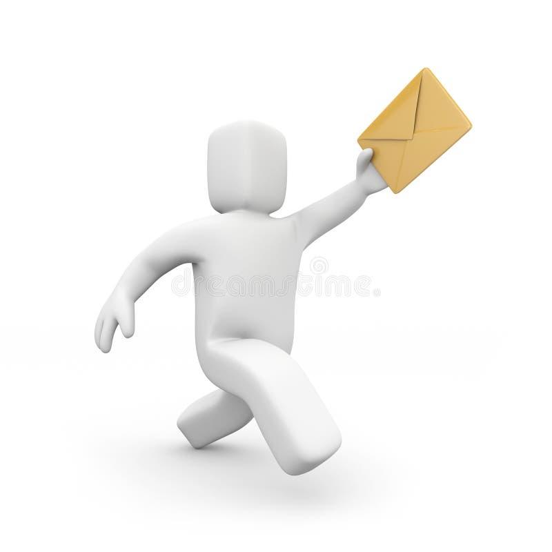 Postino - consegna di posta illustrazione vettoriale