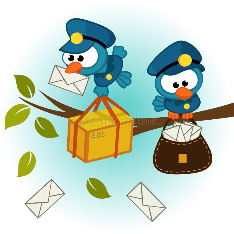 Postino dell'uccello royalty illustrazione gratis