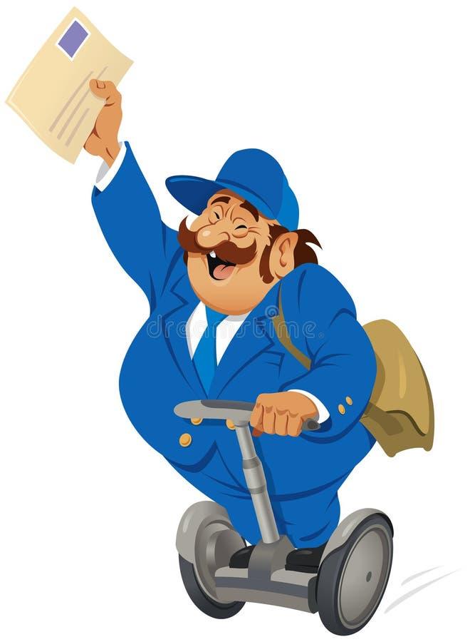 Postino sul segway royalty illustrazione gratis