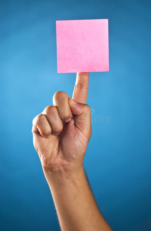 Download Postit on a finger stock photo. Image of agenda, message - 7476932
