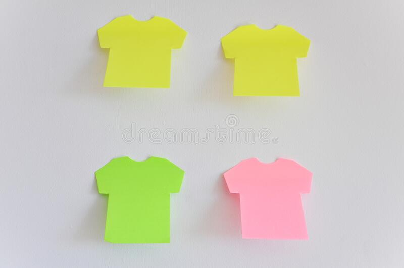 Postit Note Paper. Blank colorful Postit Note Paper stock image